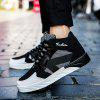 Men's Fashion Lace Light Running Shoes - BLACK