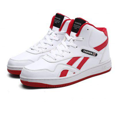 Mens Fashion Round Toe High Top Sneakers Casual Lace Up Skateboard ShoesMen's Sneakers<br>Mens Fashion Round Toe High Top Sneakers Casual Lace Up Skateboard Shoes<br><br>Available Size: 39-45<br>Closure Type: Lace-Up<br>Feature: Breathable<br>Gender: For Men<br>Outsole Material: Rubber<br>Package Contents: 1 x Shoes (pair)<br>Pattern Type: Solid<br>Season: Spring/Fall<br>Upper Material: PU<br>Weight: 1.2000kg