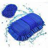 Car Vehicle Coral Velvet Cleaning Wash Gloves Accessory Tool - BLUE