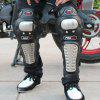 4pcs Stainless Steel Motorcycle Racing Protective Gear Knee Elbow Shin Pads Cap Guards - BLACK