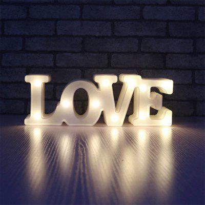 Romantic 3D Love LED Night Light for Bedroom Wedding Party