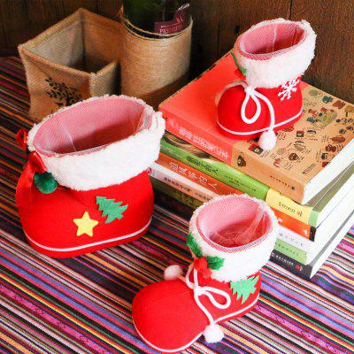 Christmas Decoration Children Present Candy Boots Small Gift Package 1pc