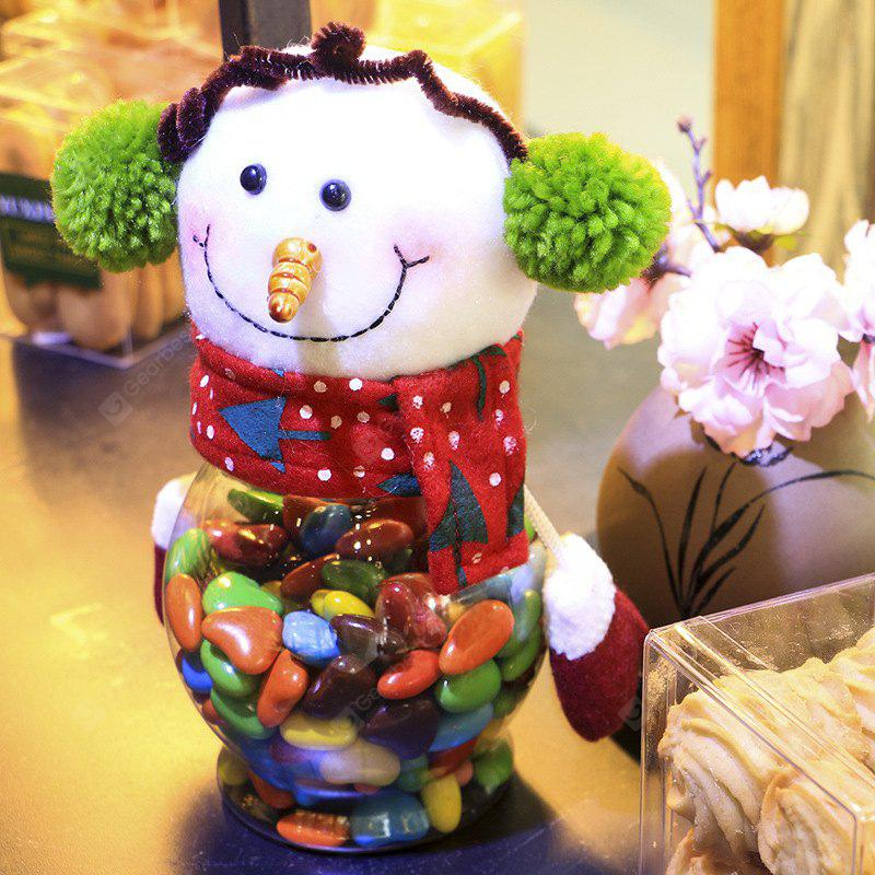 Christmas Biscuit Candy Storage Jar Children Gift Decoration
