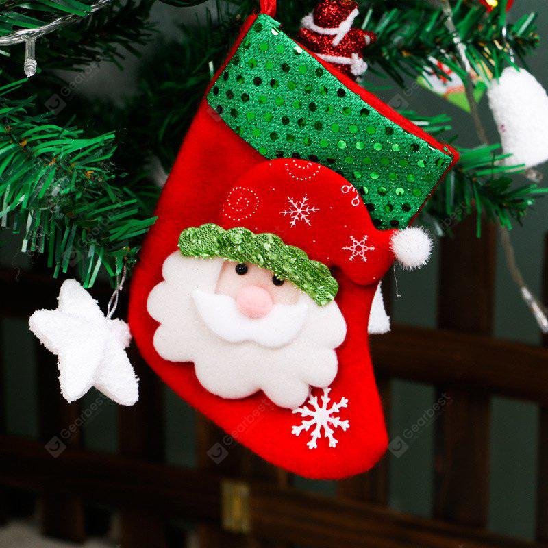 Christmas Tree Decoration Small Sequins Children Gift Candy Bag Socks