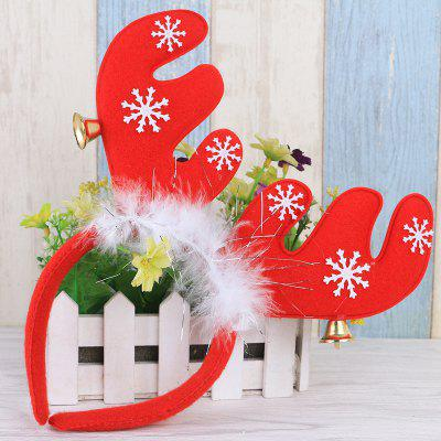 Cute Christmas Bells Headband Antlers Head Hoop Holiday Decoration