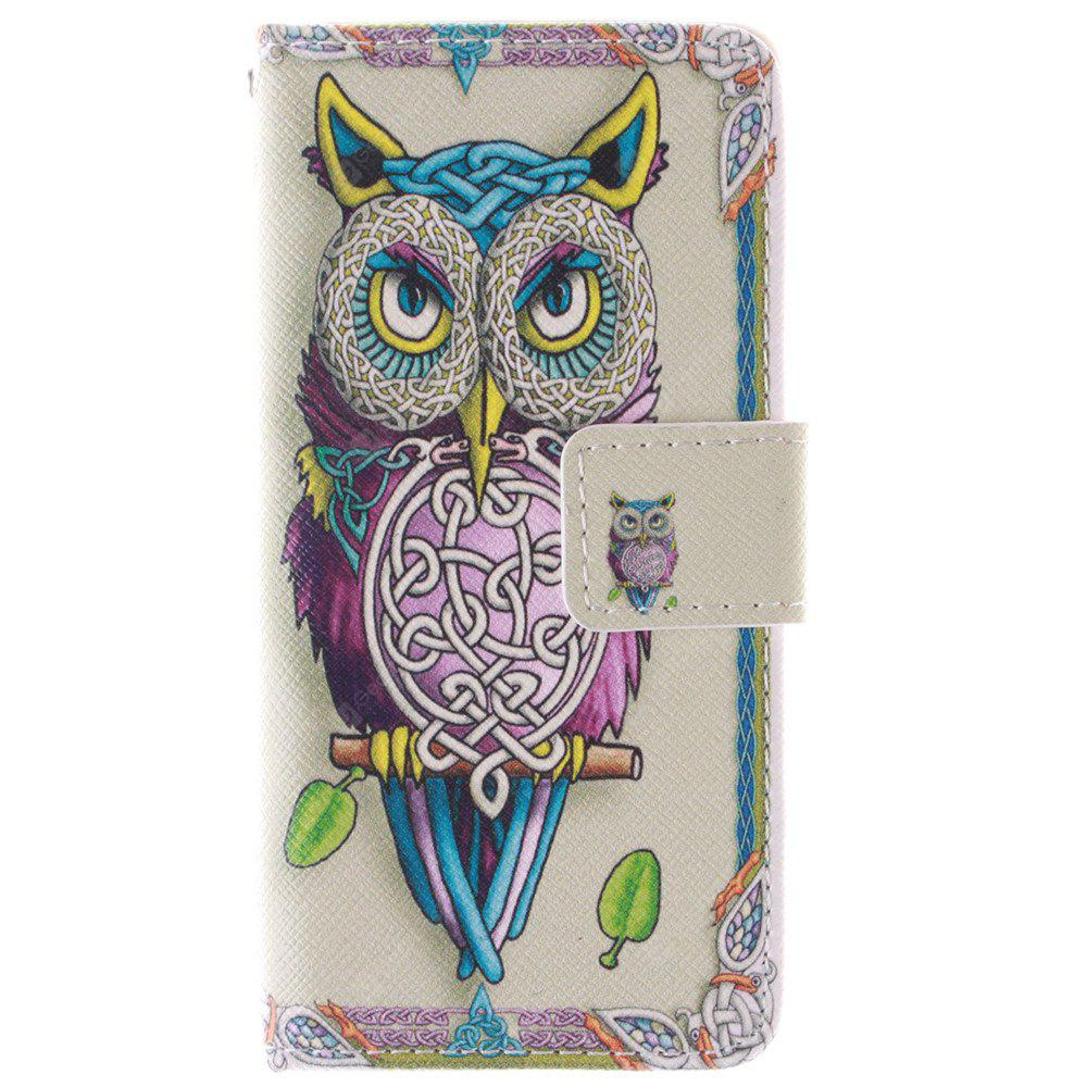 Owl Model PU + TPU Leather Wallet Case Design com Stand e Card Slots Capa de fecho magnético para Iphone 5C