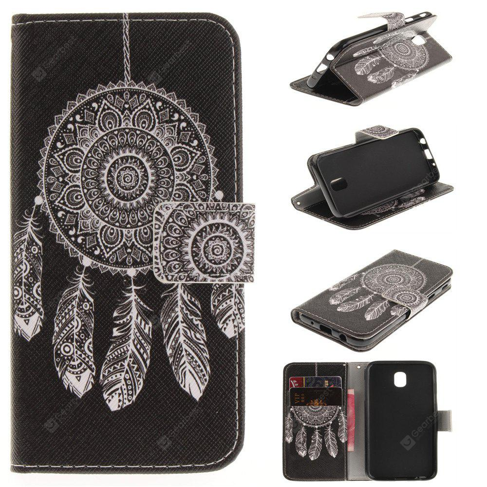 Windbell Pattern PU + TPU Leather Wallet Case Design com Stand e Slots de cartão Fechamento magnético J5 2017 J530 EU Version