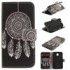 Windbell Pattern PU+TPU Leather Wallet Case Design with Stand and Card Slots Magnetic Closure for Samsung Galaxy J5 2017 J530 EU Version - BLACK