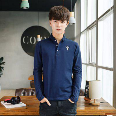 Mens Fashion Embroidery Long Sleeve Slim Polo ShirtMens T-shirts<br>Mens Fashion Embroidery Long Sleeve Slim Polo Shirt<br><br>Collar: Polo Collar<br>Color Style: Solid<br>Fabric Type: Broadcloth<br>Material: Cotton<br>Package Contents: 1 x T-shirt<br>Pattern Type: Others<br>Sleeve Length: Full<br>Style: Fashion<br>Type: Regular<br>Weight: 0.2100kg