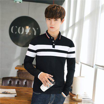 Mens Fashion Stripes Hit Color Slim Long-Sleeved Polo ShirtMens T-shirts<br>Mens Fashion Stripes Hit Color Slim Long-Sleeved Polo Shirt<br><br>Collar: Polo Collar<br>Fabric Type: Broadcloth<br>Material: Cotton<br>Package Contents: 1 x T-Shirt<br>Pattern Type: Striped<br>Sleeve Length: Full<br>Style: Casual<br>Weight: 0.2100kg