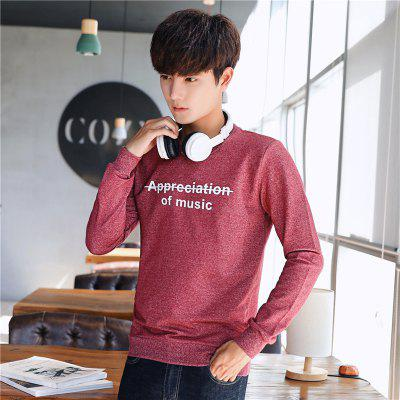 Mens Fashion Printing Long-Sleeved SweatshirtMens Hoodies &amp; Sweatshirts<br>Mens Fashion Printing Long-Sleeved Sweatshirt<br><br>Material: Cotton, Polyester<br>Package Contents: 1 x Sweatshirt<br>Shirt Length: Regular<br>Sleeve Length: Full<br>Style: Casual<br>Weight: 0.3000kg