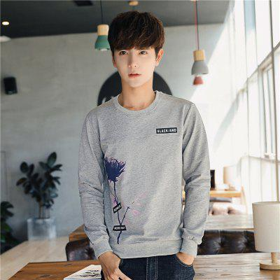 Mens Fashion Printing Long-Sleeved Slim SweatshirtMens Hoodies &amp; Sweatshirts<br>Mens Fashion Printing Long-Sleeved Slim Sweatshirt<br><br>Fabric Type: Broadcloth<br>Material: Cotton, Polyester<br>Package Contents: 1 x Sweatshirt<br>Shirt Length: Regular<br>Sleeve Length: Full<br>Style: Casual<br>Weight: 0.2500kg
