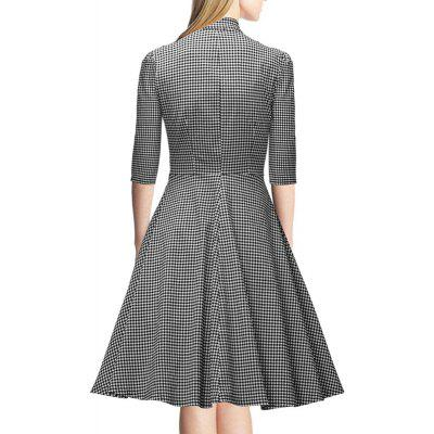 Womens Seven-Cent Sleeve Plaid Big Bow Fashion Big Swing DressWomens Dresses<br>Womens Seven-Cent Sleeve Plaid Big Bow Fashion Big Swing Dress<br><br>Dresses Length: Knee-Length<br>Elasticity: Elastic<br>Fabric Type: Broadcloth<br>Material: Spandex, Polyester<br>Neckline: V-Neck<br>Package Contents: 1xDress<br>Pattern Type: Plaid<br>Season: Fall<br>Silhouette: Ball Gown<br>Sleeve Length: 3/4 Length Sleeves<br>Style: Vintage<br>Weight: 0.2500kg<br>With Belt: No