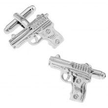Men's Military Series Silver Pistol Cuff Links