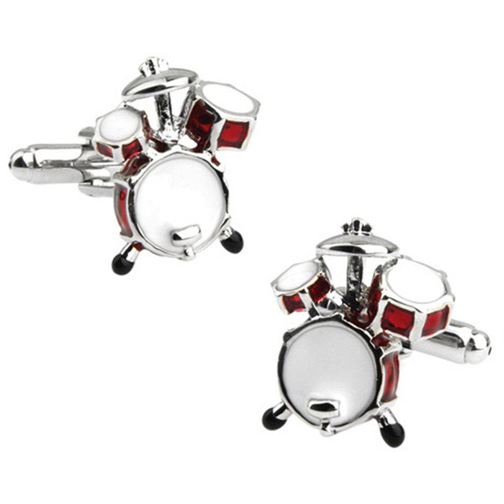 Men's Stylish Design Creative Music Drum Shape Sleeve Button Accessory