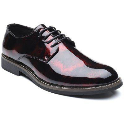 Fashion Leisure Lace Up Men Leather Shoes