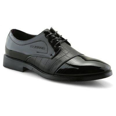 Solid Casual Lace Up Leather Shoes