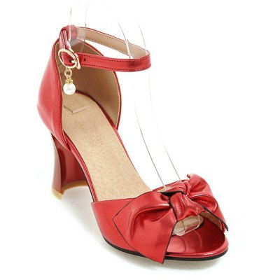 Women's Sandals Two-Piece Summer Wedding Party Imitation Pearl Hollow-out Chunky Heel