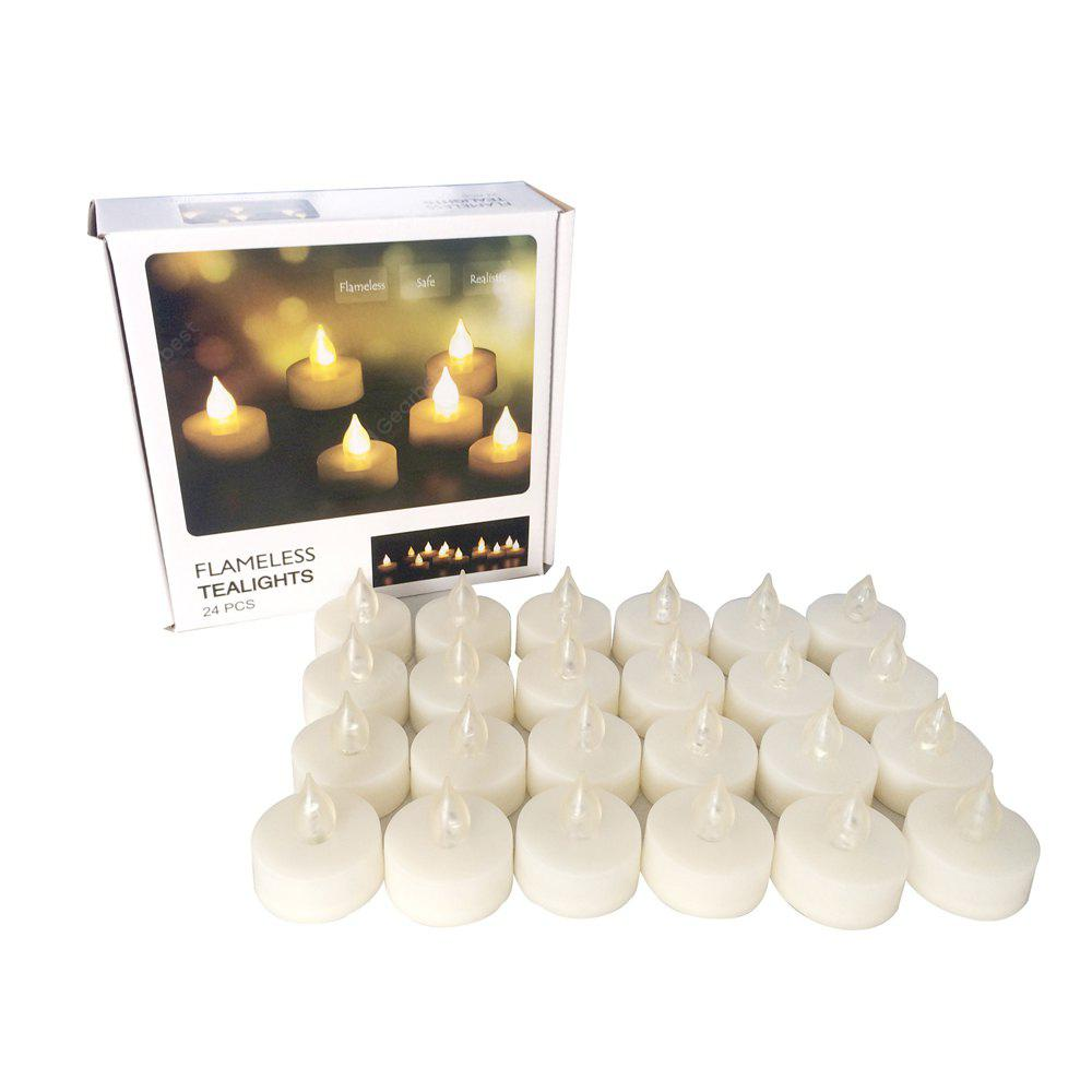 Set of 24 Flameless Tealights Battery operated
