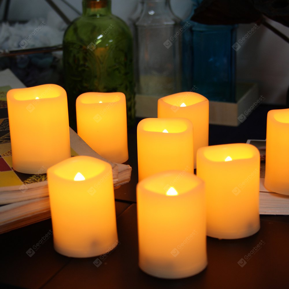 24 PCS Realistic Bright Flickering Flameless Votive Candles Battery Operated Melted Edge