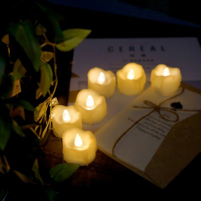 Buy 24PCS Realistic Flameless Votive Candles IVORY WHITE for $22.58 in GearBest store