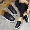 Women Winter Lace with Futher Soft Flat  Causal Roman Single Shoes - BROWN