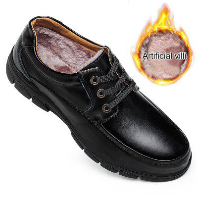 Warm Winter Faux with Leather Mens Cashmere Business Casual Shoes Soled Old DadFormal Shoes<br>Warm Winter Faux with Leather Mens Cashmere Business Casual Shoes Soled Old Dad<br><br>Available Size: The international mens shoes size<br>Closure Type: Lace-Up<br>Embellishment: None<br>Gender: For Men<br>Occasion: Office &amp; Career<br>Outsole Material: Rubber<br>Package Contents: 1 X Shoes(pair)<br>Pattern Type: Solid<br>Season: Summer, Winter, Spring/Fall<br>Toe Shape: Round Toe<br>Toe Style: Closed Toe<br>Upper Material: Genuine Leather<br>Weight: 1.4852kg