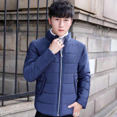 Winter Young Korean Thick Warm Coat Jacket MenMens Jackets &amp; Coats<br>Winter Young Korean Thick Warm Coat Jacket Men<br><br>Clothes Type: Down &amp; Parkas<br>Colors: Black,Purplish Blue<br>Lining Material: Acrylic<br>Materials: Cotton, Polyester, Spandex<br>Package Content: 1xCoat<br>Package size (L x W x H): 1.00 x 1.00 x 1.00 cm / 0.39 x 0.39 x 0.39 inches<br>Package weight: 0.4000 kg<br>Size1: M,L,XL,4XL,2XL,3XL