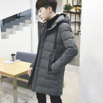 Men  Fashion in The Long Section Down JacketMens Jackets &amp; Coats<br>Men  Fashion in The Long Section Down Jacket<br><br>Closure Type: Zipper<br>Clothes Type: Down &amp; Parkas<br>Collar: Hooded<br>Colors: Black,Gray,Army green<br>Hooded: Yes<br>Lining Material: Cotton,Synthetic<br>Materials: Cotton, Down<br>Package Content: 1XCoat<br>Package size (L x W x H): 1.00 x 1.00 x 1.00 cm / 0.39 x 0.39 x 0.39 inches<br>Package weight: 0.5000 kg<br>Shirt Length: Long<br>Size1: M,L,XL,2XL,3XL,5XL