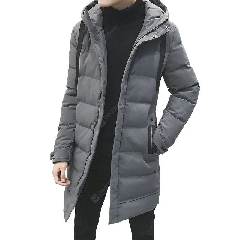 Men  Fashion in The Long Section Down Jacket