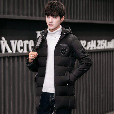 Men Fashion Hooded Cotton Warm Down JacketMens Jackets &amp; Coats<br>Men Fashion Hooded Cotton Warm Down Jacket<br><br>Closure Type: Zipper<br>Clothes Type: Long Coat<br>Colors: Black,Blue,Khaki<br>Detachable Part: None<br>Hooded: Yes<br>Lining Material: Synthetic<br>Materials: Down, Cotton<br>Package Content: 1 X Coat<br>Package size (L x W x H): 40.00 x 20.00 x 2.00 cm / 15.75 x 7.87 x 0.79 inches<br>Package weight: 0.5000 kg<br>Size1: M,L,XL,2XL,3XL<br>Thickness: Thickening<br>Type: Slim