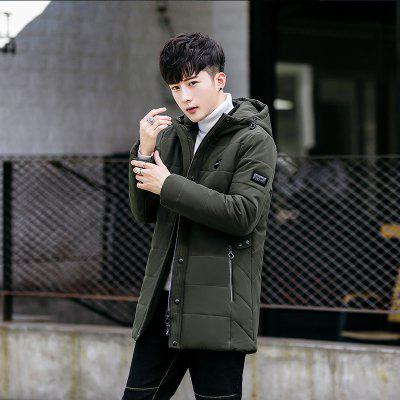 Mens Fashion Hooded Warm Long CoatMens Jackets &amp; Coats<br>Mens Fashion Hooded Warm Long Coat<br><br>Closure Type: Zipper<br>Clothes Type: Padded<br>Collar: Hooded<br>Colors: Black,Blue,Gray,Army green<br>Detachable Part: None<br>Hooded: Yes<br>Lining Material: Synthetic<br>Materials: Down, Cotton<br>Package Content: 1 X Coat<br>Package size (L x W x H): 1.00 x 1.00 x 1.00 cm / 0.39 x 0.39 x 0.39 inches<br>Package weight: 0.5000 kg<br>Size1: M,L,XL,4XL,2XL,3XL<br>Thickness: Thickening<br>Type: Slim