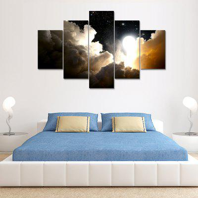 Nuages ​​Impression Sur Toile Décoration Murale Photo Art 5PCS