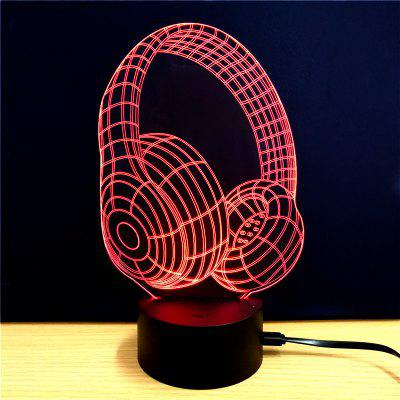 M.Sparkling TD070 Creative Headset Music 3D LED Lamp