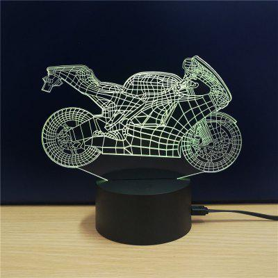 M.Sparkling TD101 Creative Motorcycle 3D LED Lamp3D Lamps<br>M.Sparkling TD101 Creative Motorcycle 3D LED Lamp<br><br>Brand: M.Sparkling<br>Feature: Rechargeable<br>Light Source Color: RGB<br>Package Content: 1xAcrylicBoard,1xABSPedestal,1xUSBCable,1xEnglishManual<br>Package Size ( L x W x H ): 24.00 x 17.00 x 5.00 cm / 9.45 x 6.69 x 1.97 inches<br>Product Size(L x W x H): 15.00 x 22.00 x 8.50 cm / 5.91 x 8.66 x 3.35 inches<br>Type: Creative Design<br>Voltage (V): 5V