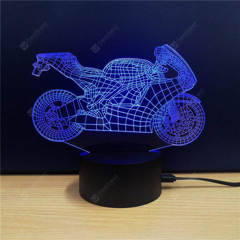 M.Sparkling TD101 Creative Motorcycle 3D LED Lamp