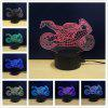 M.Sparkling TD101 Creative Motorcycle 3D LED Lamp - RGB