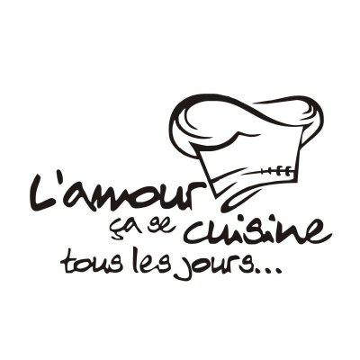 DSU Lamour Cuisine French Vinyl Kitchen Decor Mural Wall Art Tile Quote Wall Sticker