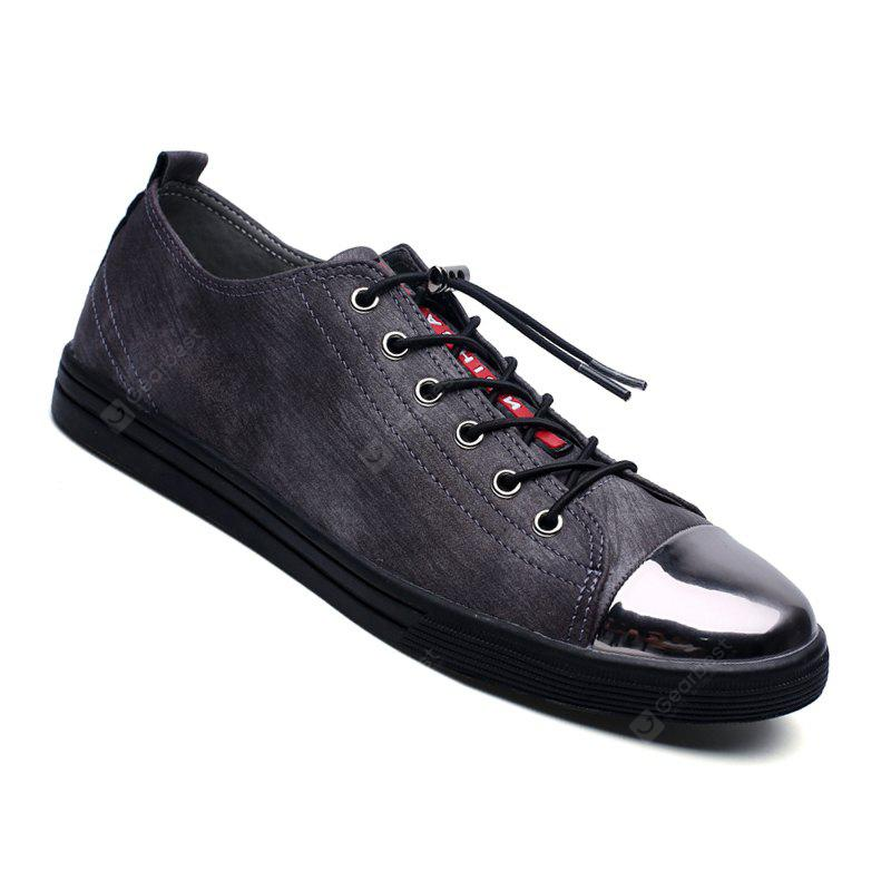 Men Casual Trend of Fashion Outdoor Leather Flat Shoes