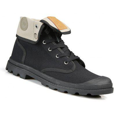 Couple Casual Shoes Lacing Platform High Top Canvas Outdoor British Anti Skid Shoes
