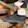 Couple Casual Shoes Lacing Platform High Top Canvas Outdoor British Anti Skid Shoes - BLACK