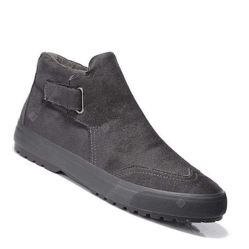 Men Boots Warm Casual Shoes Outdoor High Top Suede British Warm Anti Skid Shoes