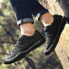 New Men Winter Outdoor Casual Shoes Plush Lace Up Flats Men Snow Boots Oxford Warm Sneakers - BLACK
