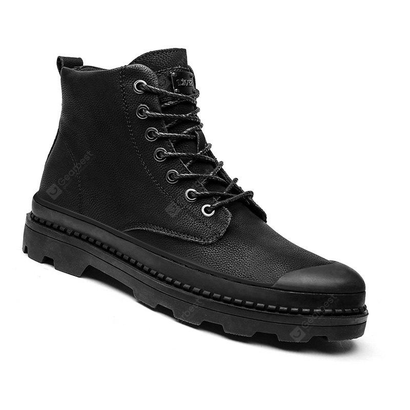 Warm Men Winter Outdoor Casual Shoes Flats Men Snow Boots Oxford Sneakers