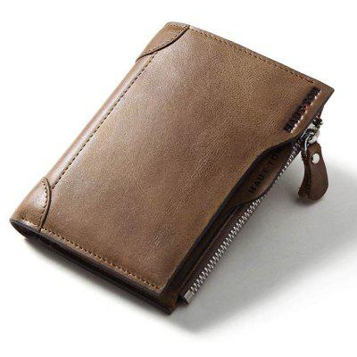 HAUT TON Genuine Leather Trifold Wallets for Men