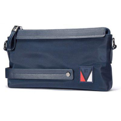 Buy BLUE HAUT TON Men's Nylon Canvas Business Single Shoulder Bag Clutch Wrist Handbag Organizer for $15.99 in GearBest store