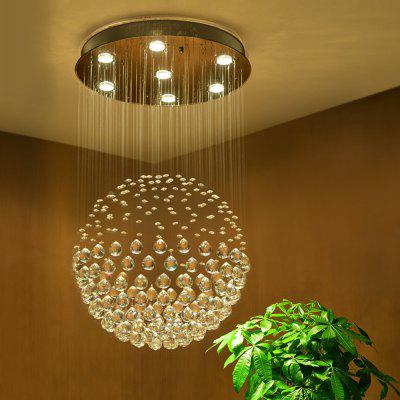 Modern Fashion Indoor Round Crystal Seven Light Chandelier for Hotel DecorationPendant Light<br>Modern Fashion Indoor Round Crystal Seven Light Chandelier for Hotel Decoration<br><br>Battery Included: Non-preloaded<br>Bulb Base: GU10<br>Bulb Included: Yes<br>Bulb Type: LED<br>Chain / Cord Adjustable or Not: Chain / Cord Not Adjustable<br>Chain / Cord Length ( CM ): 10<br>Color Temperature or Wavelength: 3000k<br>Decoration Material: Crystal<br>Dimmable: No<br>Features: Crystal, Eye Protection, Bulb Included<br>Finish: Electroplating,Paint,Stainless Steel<br>Fixture Height ( CM ): 80<br>Fixture Length ( CM ): 60<br>Fixture Material: Crystal,Metal<br>Fixture Width ( CM ): 60<br>Light Direction: Downlight<br>Light Source Color: Warm White<br>lumen: 1400LM<br>Number of Bulb: 7 Bulbs<br>Number of Bulb Sockets: 7<br>Package Contents: 1 x Chandelier<br>Package size (L x W x H): 67.00 x 67.00 x 13.00 cm / 26.38 x 26.38 x 5.12 inches<br>Package weight: 21.0000 kg<br>Product weight: 1.0000 kg<br>Remote Control Supported: No<br>Shade Material: Crystal<br>Stepless Dimming: No<br>Style: Simple Style, Artistic Style, Chic &amp; Modern, Globe, Modern/Contemporary, LED<br>Suggested Room Size: 15 - 20?<br>Suggested Space Fit: Bedroom,Boys Room,Cafes,Dining Room,Game Room,Girls Room,Hallway,Indoors,Kids Room,Living Room,Office,Study Room<br>Type: Chandeliers<br>Voltage ( V ): 220V - 240V<br>Wattage (W): &gt;20<br>Wattage per Bulb ( W ): 3