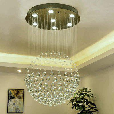 Buy COOL WHITE Modern Fashion Indoor Round Crystal Seven Light Chandelier for Hotel Decoration for $302.99 in GearBest store