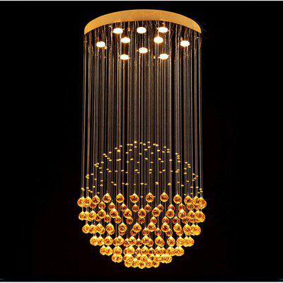 Modern Chandeliers Luxury Clear Crystal Hanging Lamp Lighting Fixtures for Dining Room Hotel with D70CM H130CM