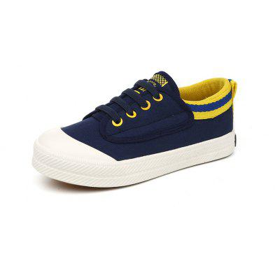 Children Boys and Girls Small White Shoes Casual Lazy People Elastic Band Feet Canvas